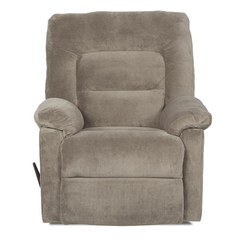 Klaussner Landon Casual Reclining Rocking Chair with Padded Chaise