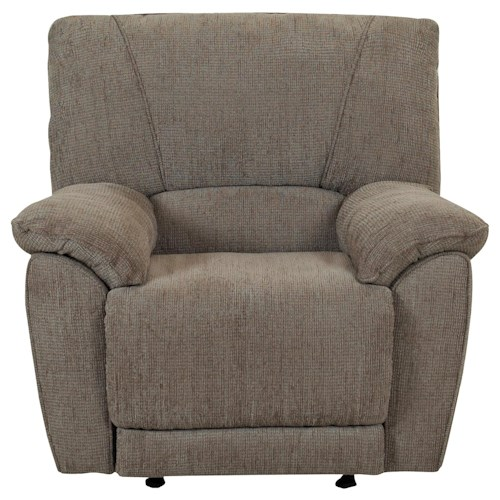 Klaussner Laredo  Swivel Rocking Reclining Chair with Casual Family Room Style