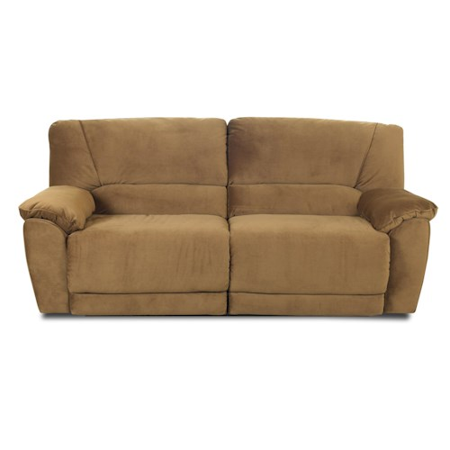 Klaussner Laredo  Casual and Contemporary Reclining Sofa with Stationary Style