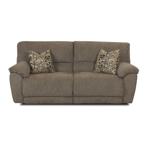 Klaussner Laredo  Casual and Contemporary Reclining Sofa with Pillows