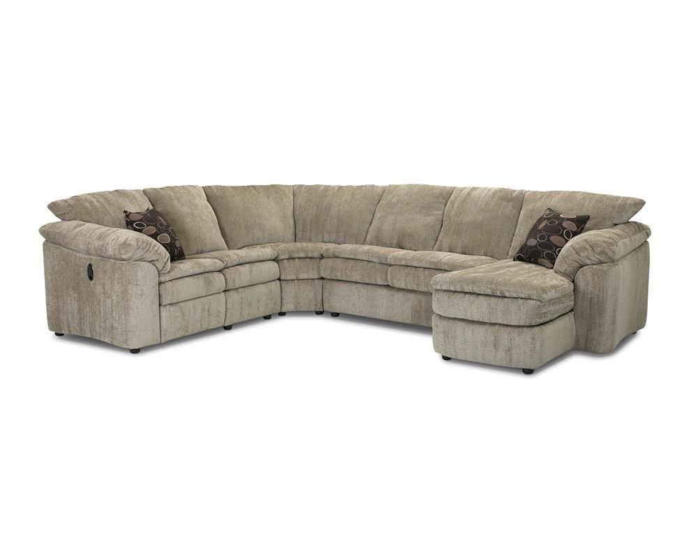 Klaussner Legacy Left Arm Reclining Love Seat and Right Arm Chaise