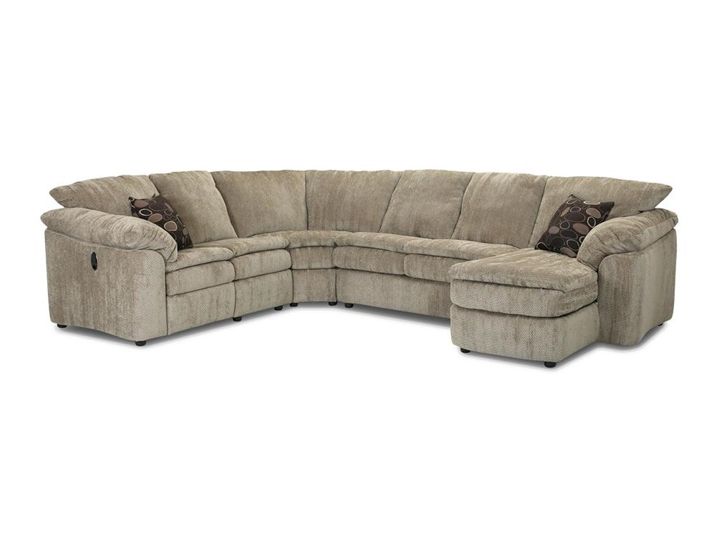 Klaussner LegacyLA Reclining Loveseat and Chaise Sectional