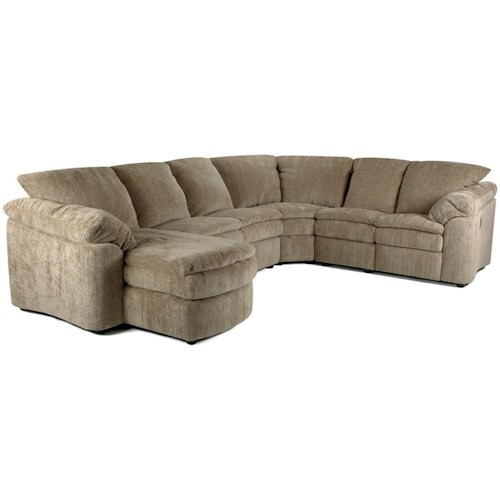 Klaussner Legacy Right Arm Reclining Loveseat and Left Arm Chaise Sectional