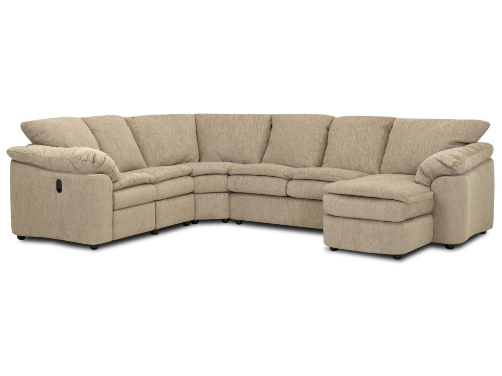 Klaussner LegacyReclining Sleeper and Chaise Sectional