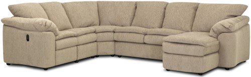 Klaussner Legacy Dual Reclining Left Arm Loveseat, Sleeper and Right Arm Chaise Sectional