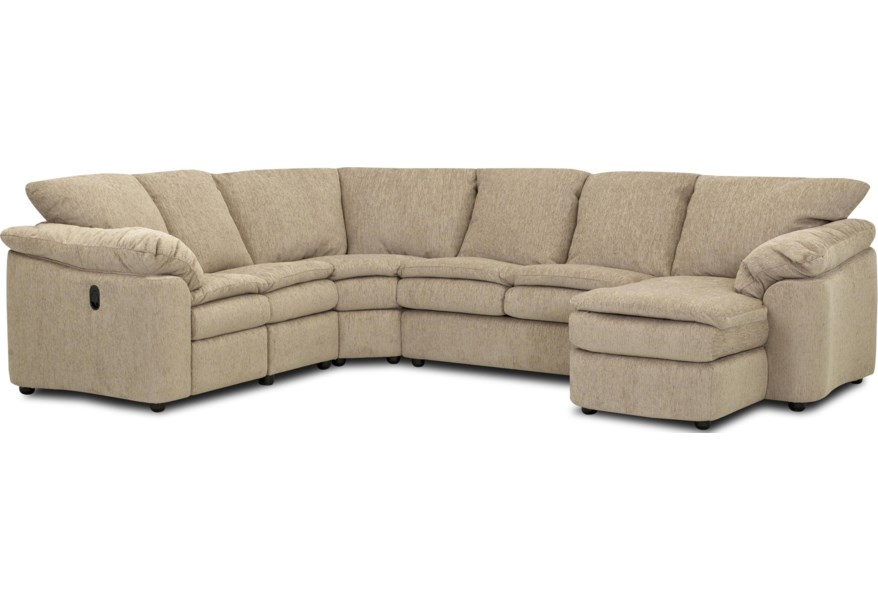 Legacy Reclining Sleeper and Chaise Sectional