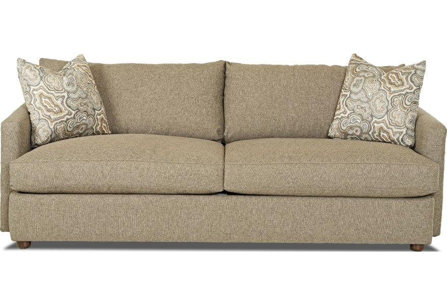 Leisure Extra Large Sofa by Klaussner at Dunk & Bright Furniture