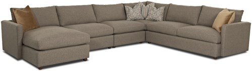 Klaussner Leisure Casual Sectional Sofa