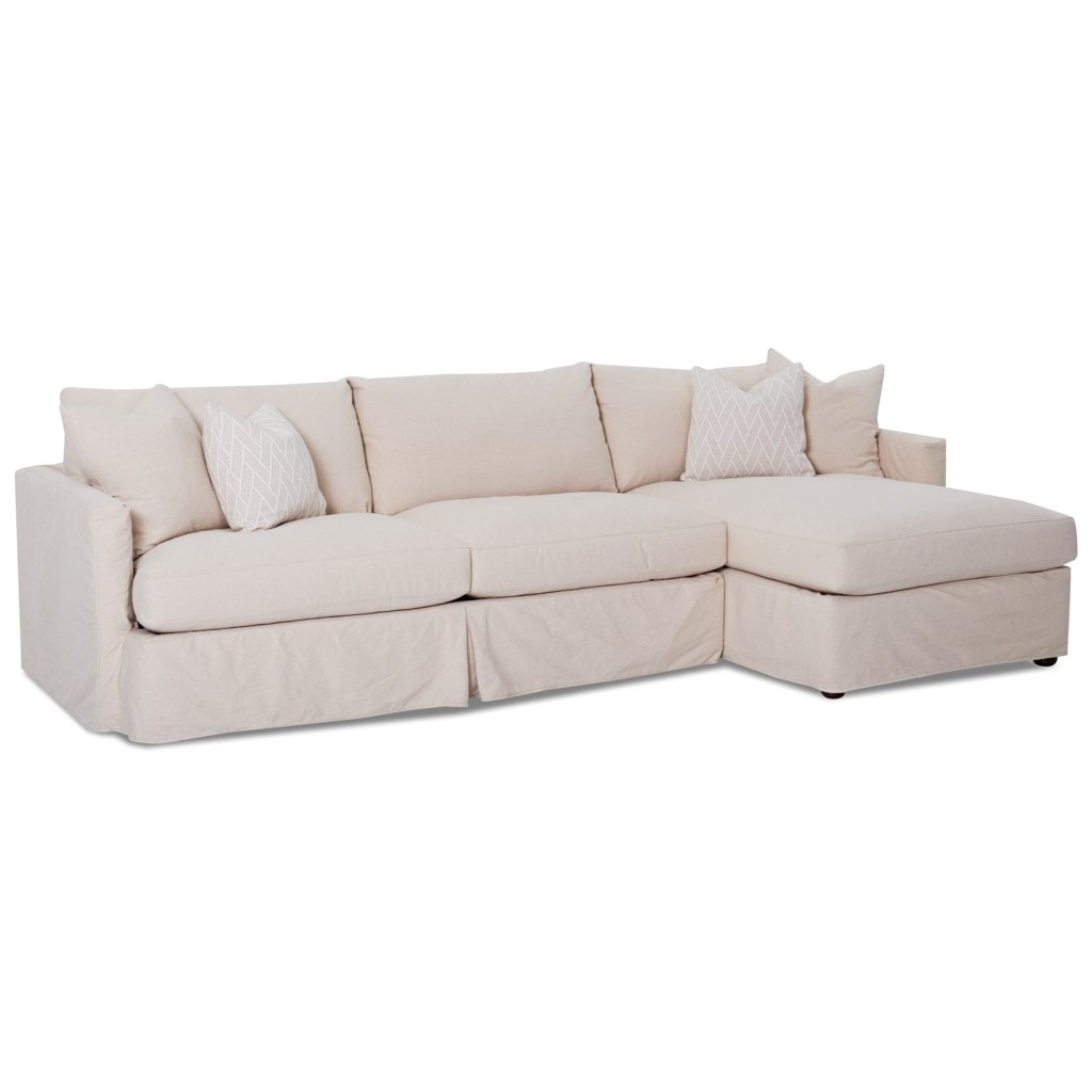 Elliston Place Leisure 2 Pc Sectional Sofa With Slipcover And Raf