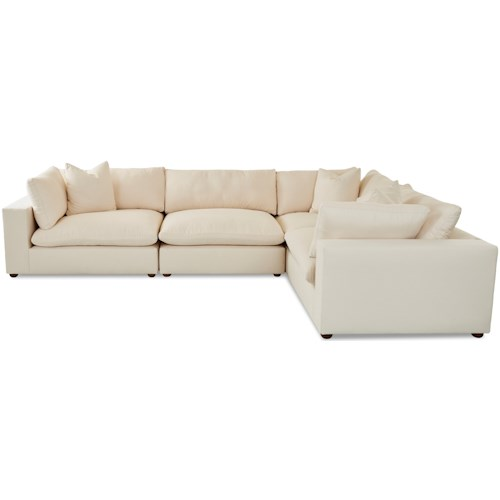 Klaussner Lenny Contemporary 4 Piece Sectional Sofa