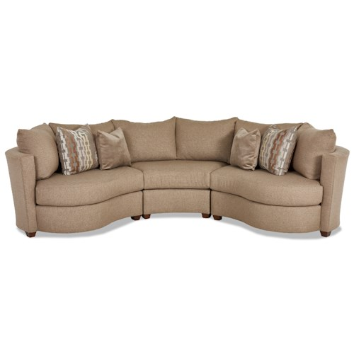 Klaussner LIA Contemporary Sectional with Track Arms