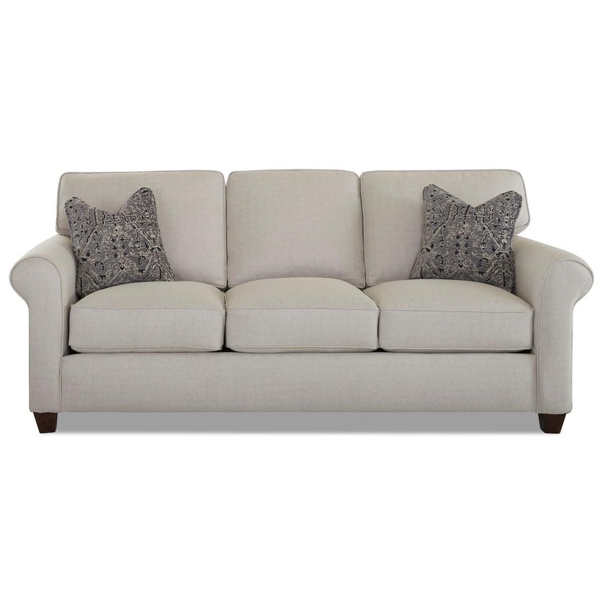 Transitional 90 Inch Sleeper Sofa with Air Dream Mattress