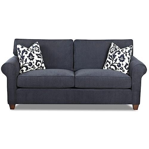 Klaussner Lillington Distinctions  Transitional Queen Sleeper Sofa with Innerspring Mattress