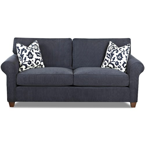 Klaussner Lillington Distinctions  Transitional Stationary Sofa with Welt