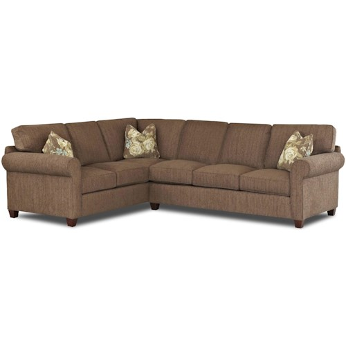 Klaussner Lillington Distinctions  Transitional 2 Piece Sectional Sofa with Welt