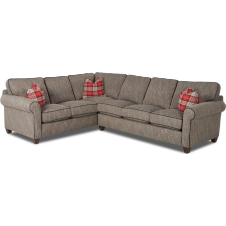 Sectional Sofa with Contrast Welts