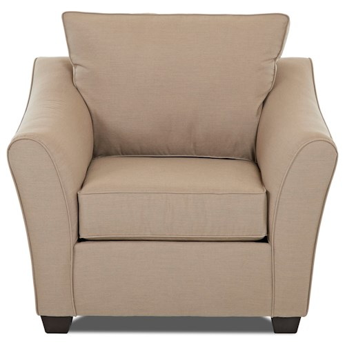 Klaussner Linville Contemporary Chair with Flared Arms