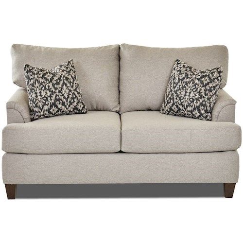 Klaussner Lisa Transitional Loveseat with Custom Fabric Options