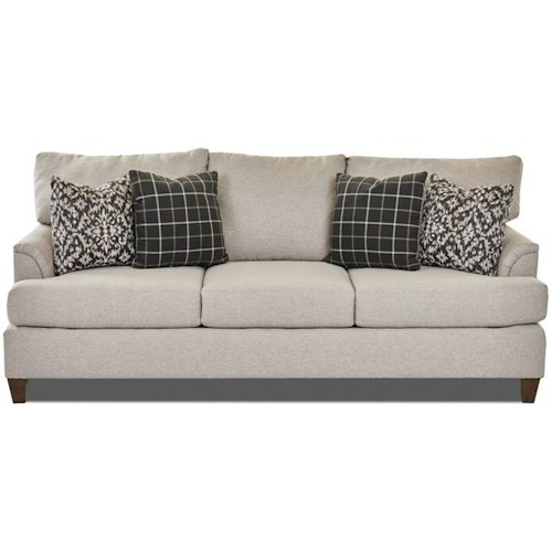 Klaussner Lisa Transitional Customizable Sofa with Flared Arms