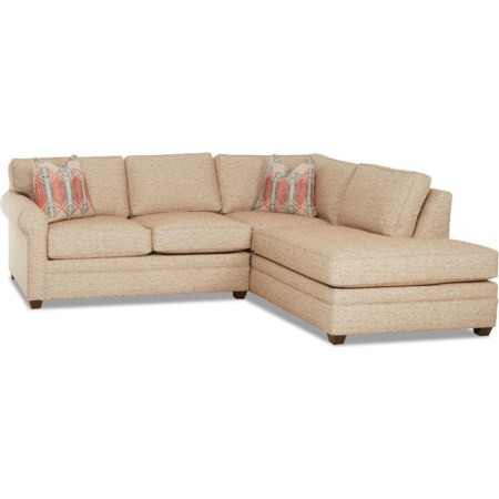 2-Piece Sectional Sofa w/ RAF Sofa Chaise