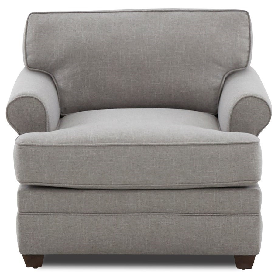 Casual Chair with Sock Rolled Arms