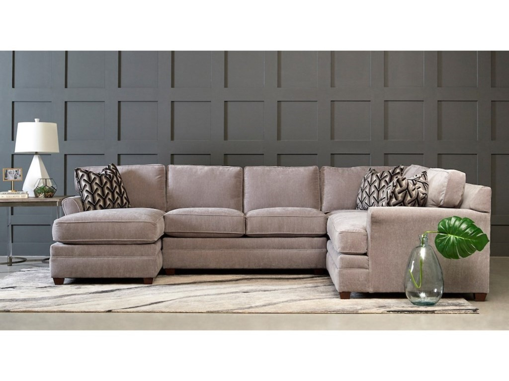 Klaussner Living Your Way3-Piece Sectional Sofa w/ LAF Chaise