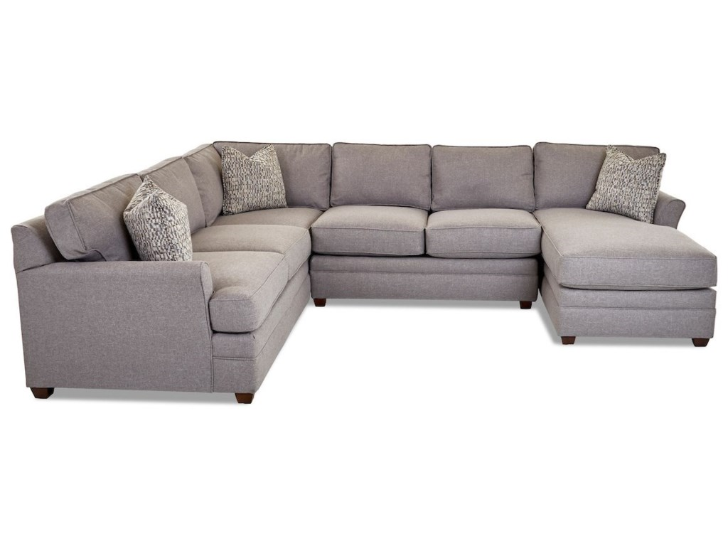 Klaussner Living Your Way3-Piece Sectional Sofa w/ RAF Chaise