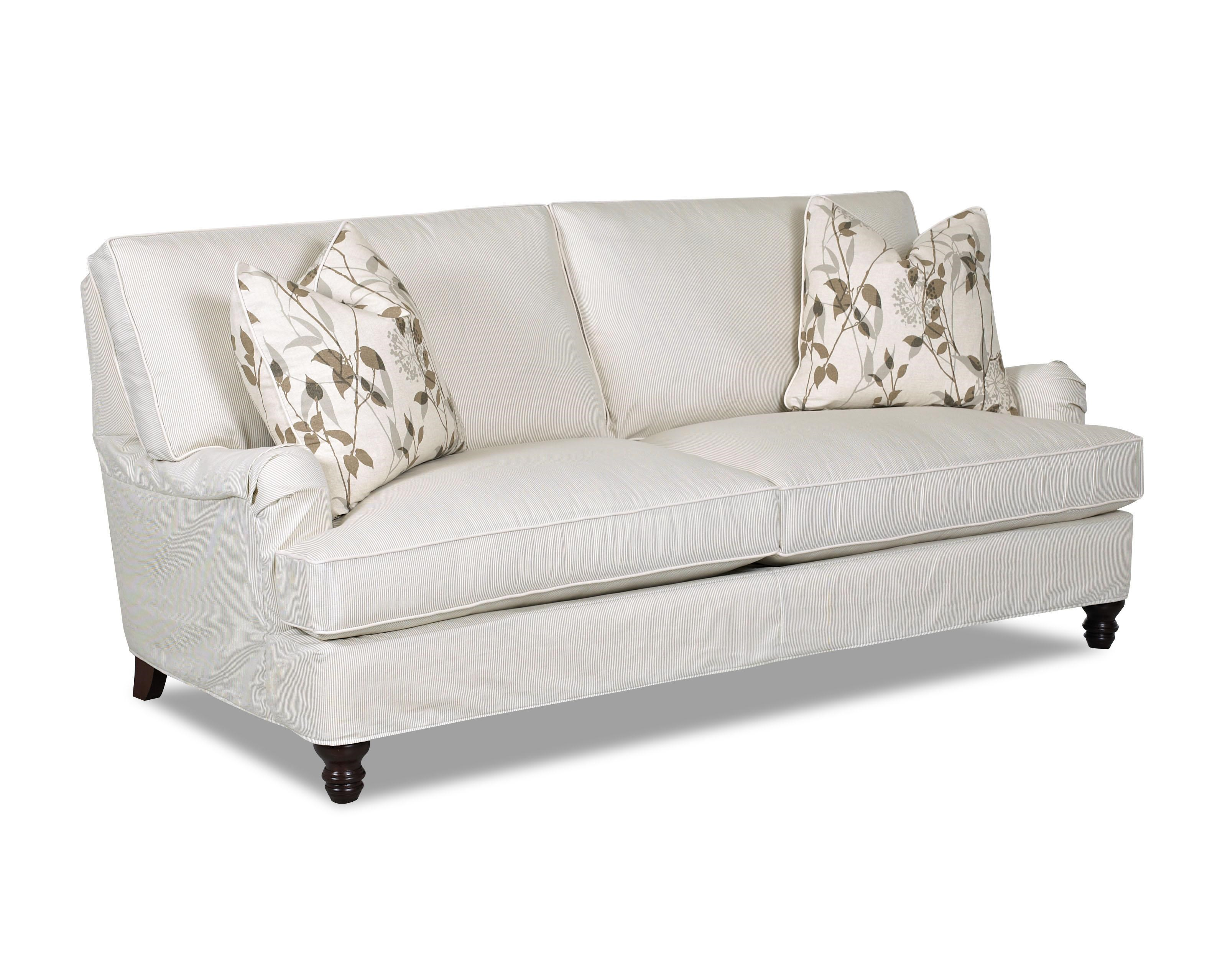klaussner loewy traditional stationary sofa with slip cover and rh valuecitynj com charles of london sofa images
