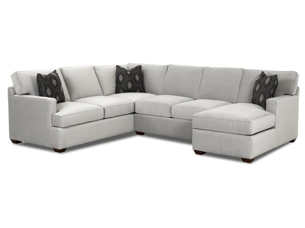 Klaussner Loomis Sectional Sofa Group with Chaise Lounge | Wayside ...