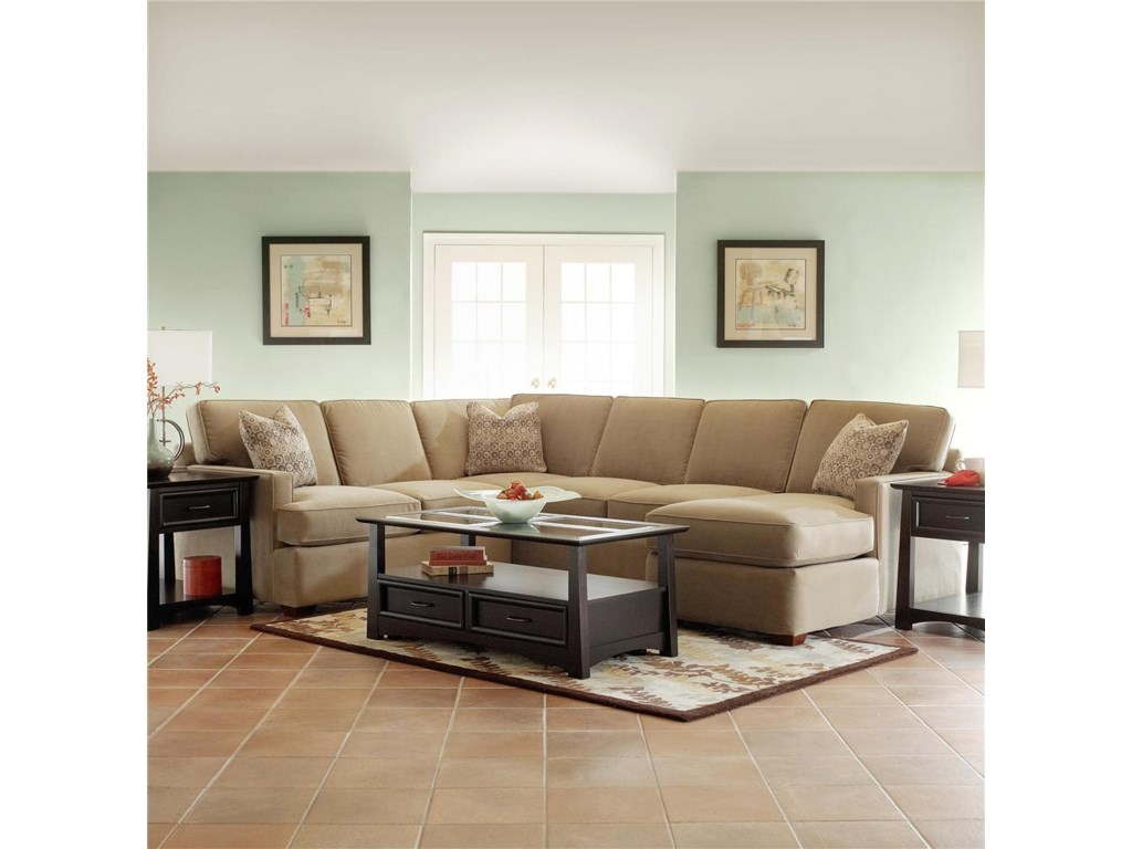 Klaussner LoomisSectional Sofa Group with Chaise
