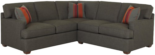 Klaussner Loomis 2 Piece Sectional Sofa Group Godby Home