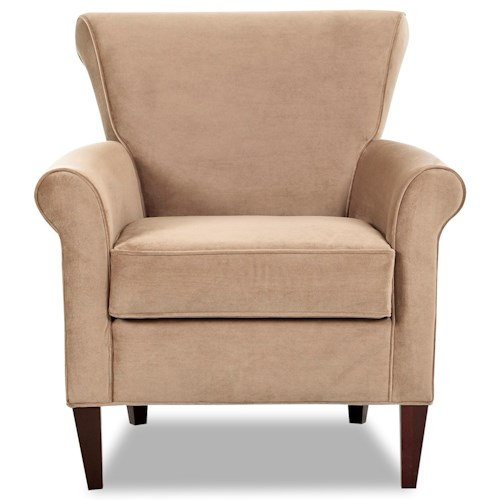 Klaussner Louise Contemporary Upholstered Chair