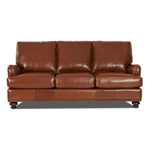 Klaussner Loxley Leather Match Stationary Sofa
