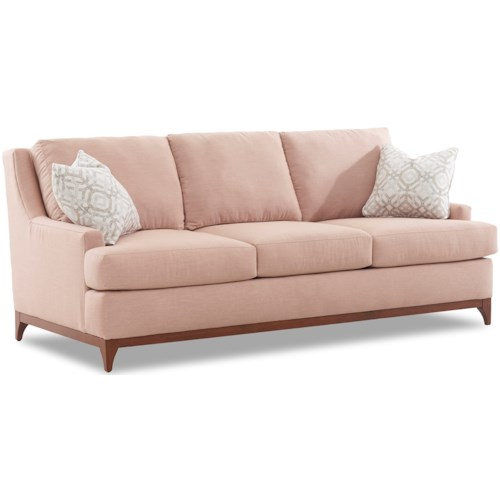 Klaussner Luca Contemporary Sofa with Wood Base