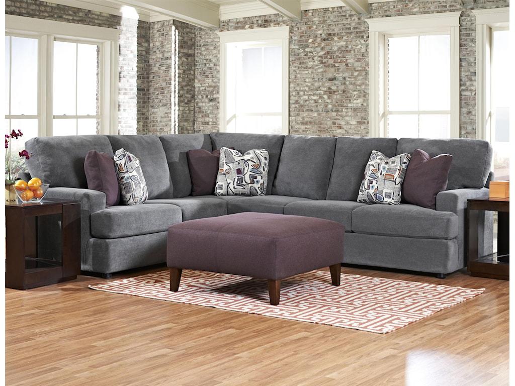 Klaussner Maclin K91500Contemporary 2 Piece Sectional Sofa