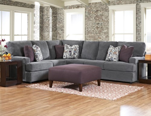 Klaussner Maclin K Contemporary 2 Piece Sectional Sofa