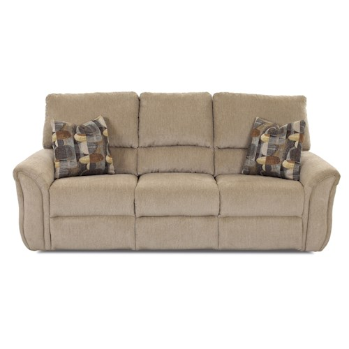 Klaussner Marcus 71903 Casual Power Reclining Sofa with Padded Chaise Seats