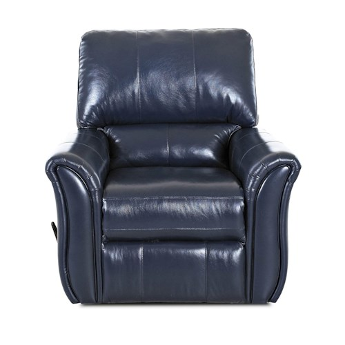 Klaussner Marcus 71903 Casual Swivel Rocking Reclining Chair with Flared Arms