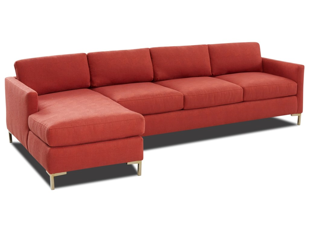 Klaussner Marisol4-Seat Sectional Sofa w/ RAF Chaise