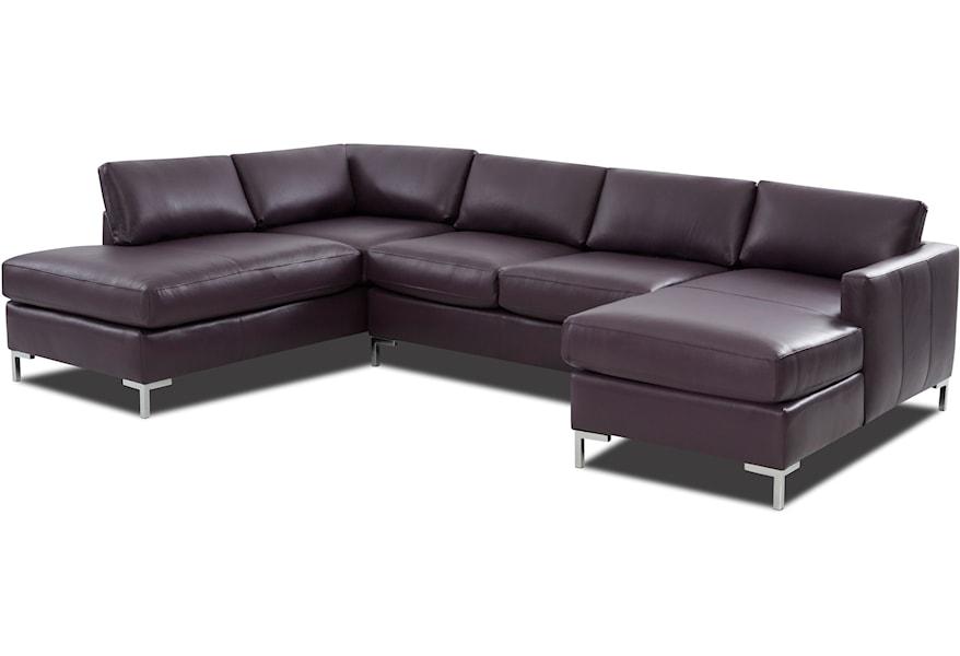 4 Seat U Shape Sectional Sofa