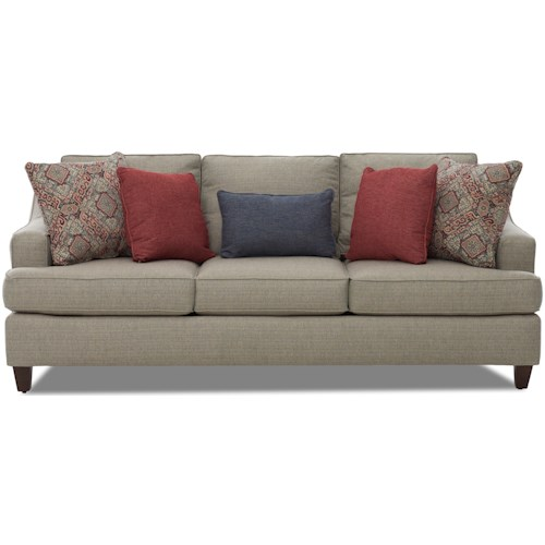 Klaussner Marjorie Transitional Sofa with T-Front Seat Cushions