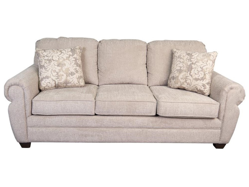 Marjorie Classic Sofa with Decorative Accent Pillows by Klaussner at Morris  Home