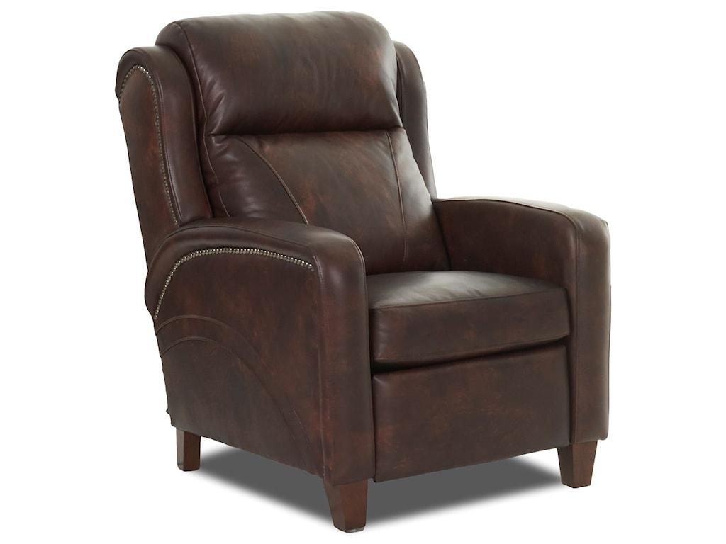 Klaussner MasonPower High Leg Reclining Chair w/ Nailheads