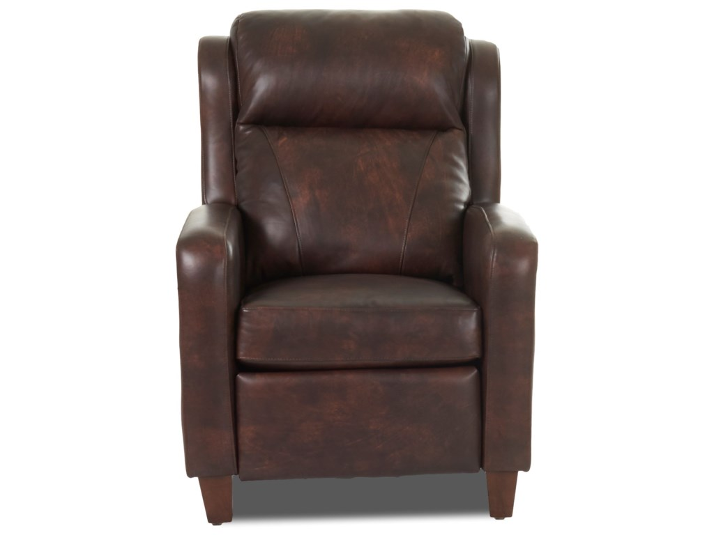 Klaussner MasonPower Recliner w/ Nails and Pwr Head & Lumba