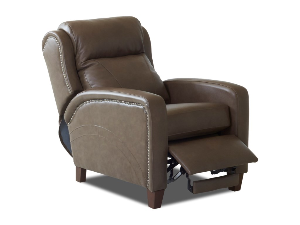 Klaussner MasonPower High Leg Reclining Chair w/ Nailheads