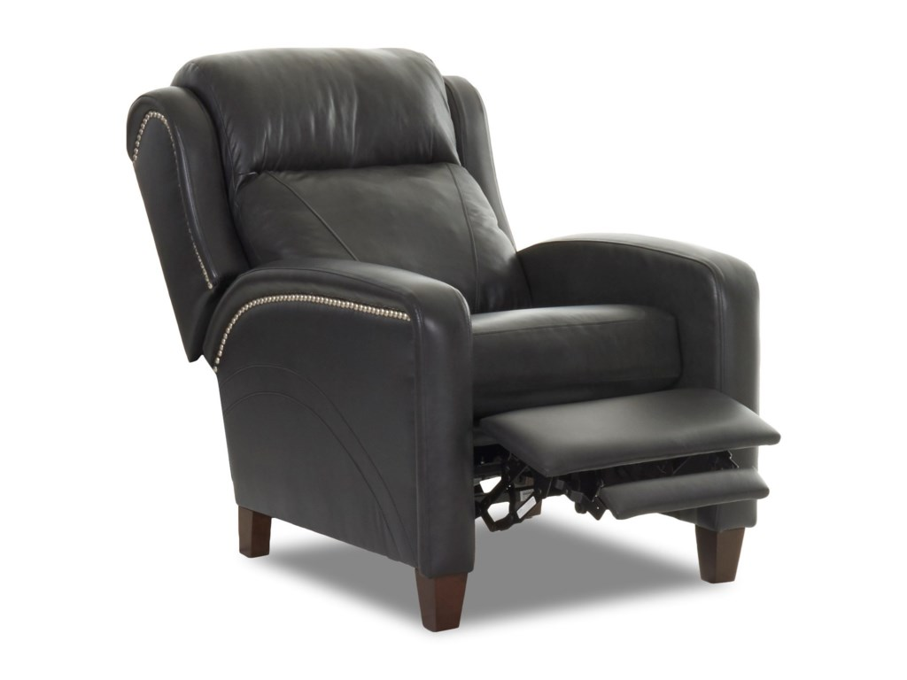 Klaussner MasonHigh Leg Reclining Chair w/ Nailheads