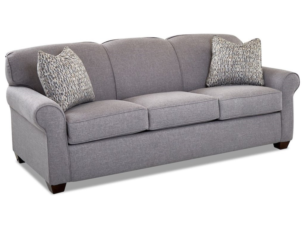 Mayhew Enso Memory Foam Queen Sleeper Sofa By Klaussner At Pilgrim Furniture City