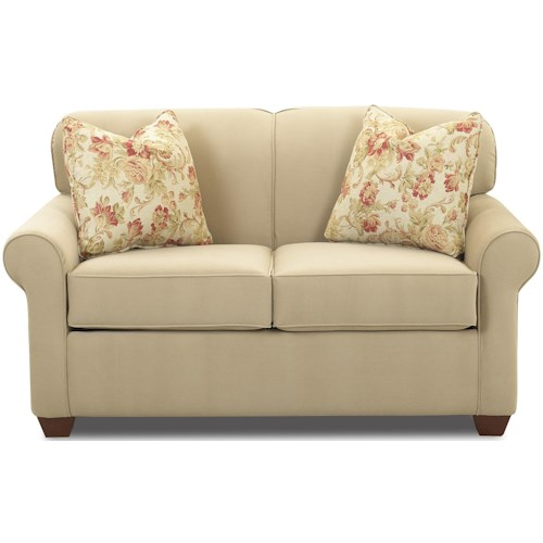 Klaussner Mayhew Air Coil Twin Sleeper Wide Chair with Accent Pillows