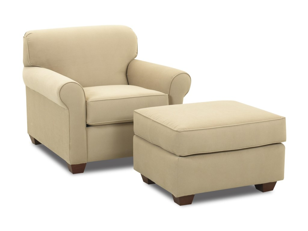Klaussner MayhewChair and Ottoman