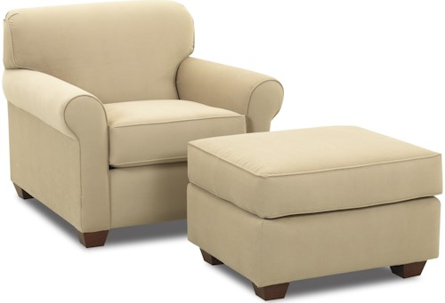 Klaussner Mayhew Upholstered Chair and Ottoman